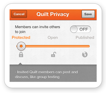 New Quilt Privacy Settings